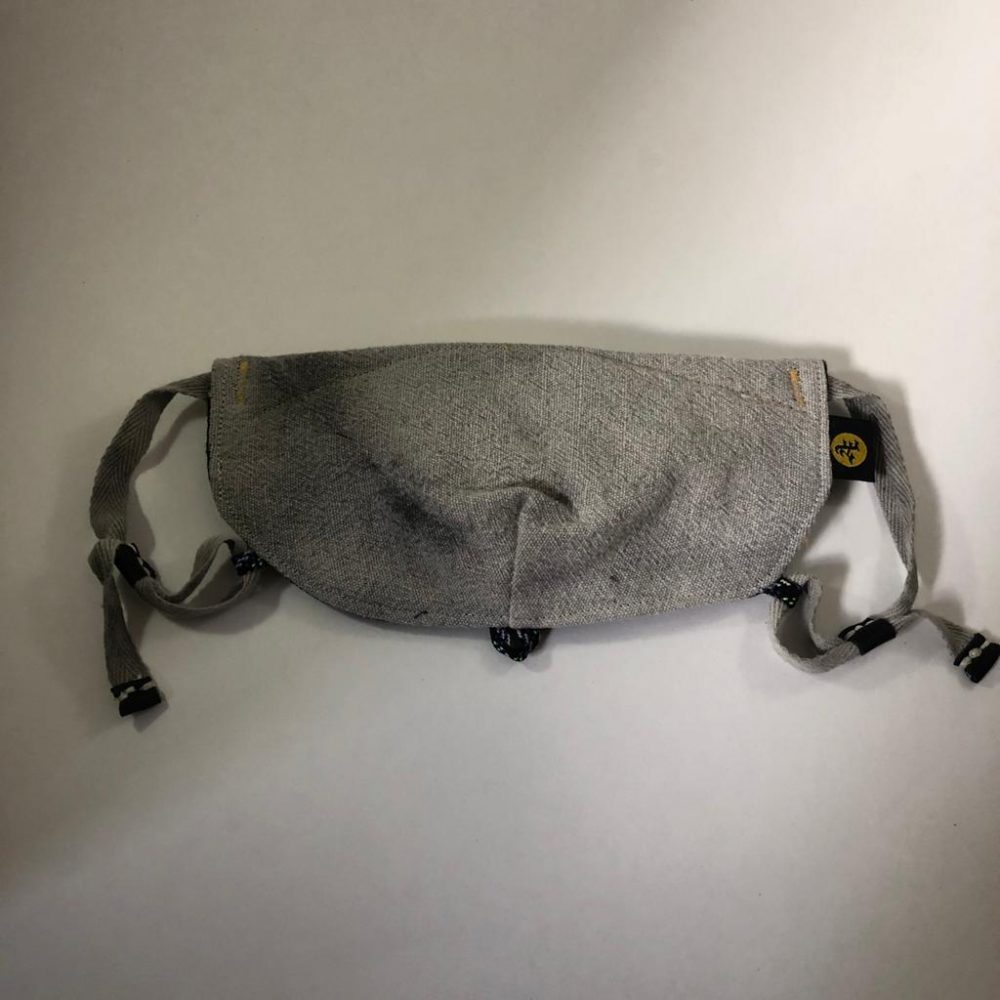 Sumi custom face mask front folded